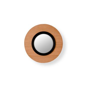 Applique murale lens circular bois naturel de cerisier noir led 3000k 160lm l24 5cm h24 5cm lzf normal