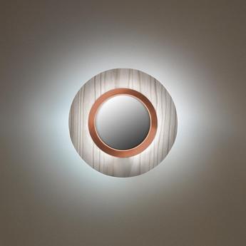Applique murale lens circular gris cuivre led 3000k 160lm l24 5cm h24 5cm lzf normal
