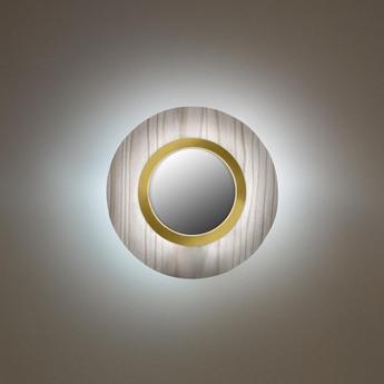 Applique murale lens circular gris dore led 3000k 160lm l24 5cm h24 5cm lzf normal