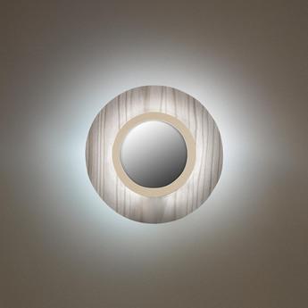 Applique murale lens circular gris ivoire led 3000k 160lm l24 5cm h24 5cm lzf normal