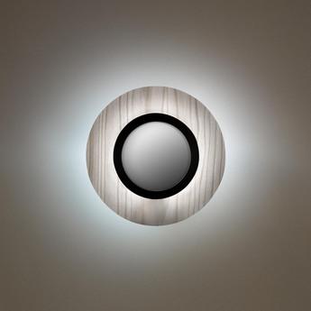 Applique murale lens circular gris noir led 3000k 160lm l24 5cm h24 5cm lzf normal