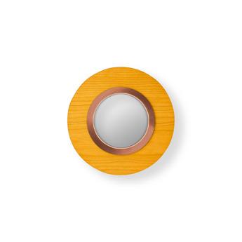 Applique murale lens circular jaune cuivre led 3000k 160lm l24 5cm h24 5cm lzf normal