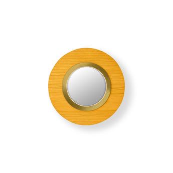 Applique murale lens circular jaune dore led 3000k 160lm l24 5cm h24 5cm lzf normal