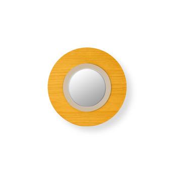 Applique murale lens circular jaune ivoire led 3000k 160lm l24 5cm h24 5cm lzf normal