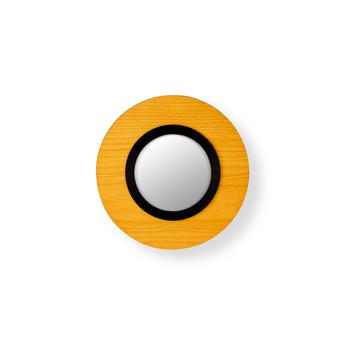 Applique murale lens circular jaune noir led 3000k 160lm l24 5cm h24 5cm lzf normal