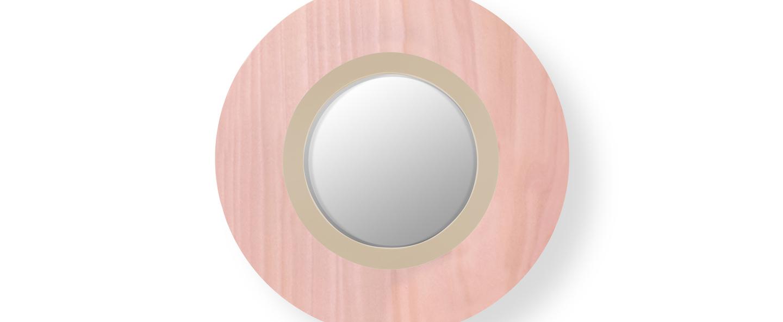 Applique murale lens circular rose pale ivoire led 3000k 160lm l24 5cm h24 5cm lzf normal
