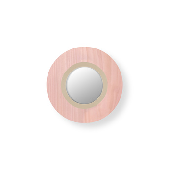Applique murale lens circular rose pale ivoire led 3000k 160lm l24 5cm h24 5cm lzf normal