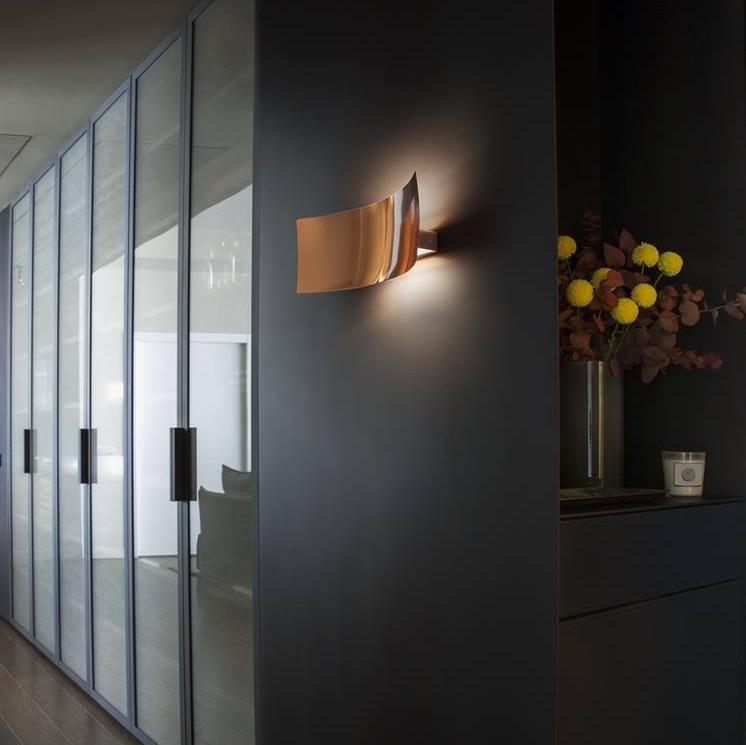 Applique Murale Lens Cuivre H16cm Oluce Luminaires Nedgis