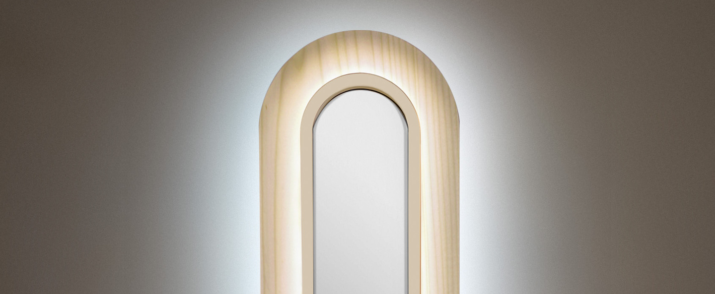 Applique murale lens superoval blanc ivoire led 3000k 533lm l22cm h78cm lzf normal