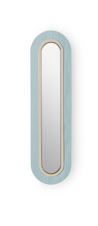 Applique murale lens superoval bleu mer ivoire led 3000k 533lm l22cm h78cm lzf normal