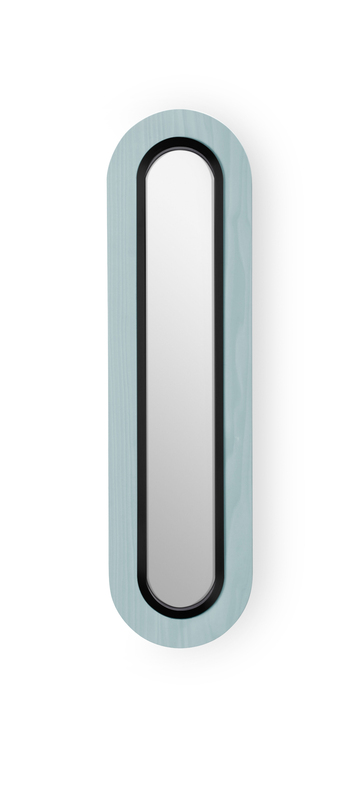 Applique murale lens superoval bleu mer noir led 3000k 533lm l22cm h78cm lzf normal