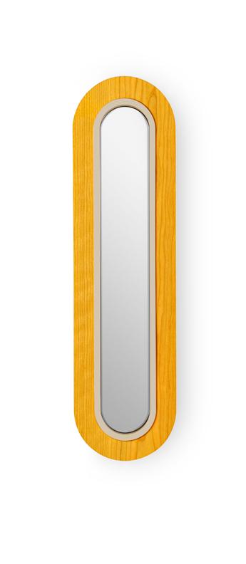 Applique murale lens superoval jaune ivoire led 3000k 533lm l22cm h78cm lzf normal