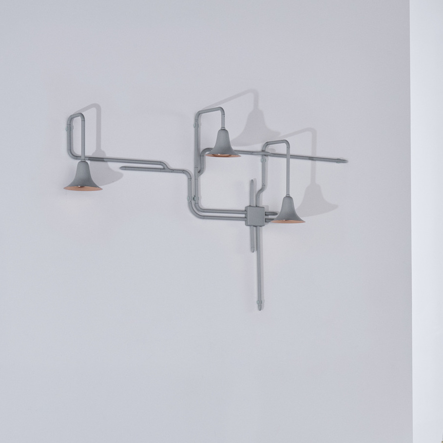 Wall light light forest OD2 white copper L150cm H120cm