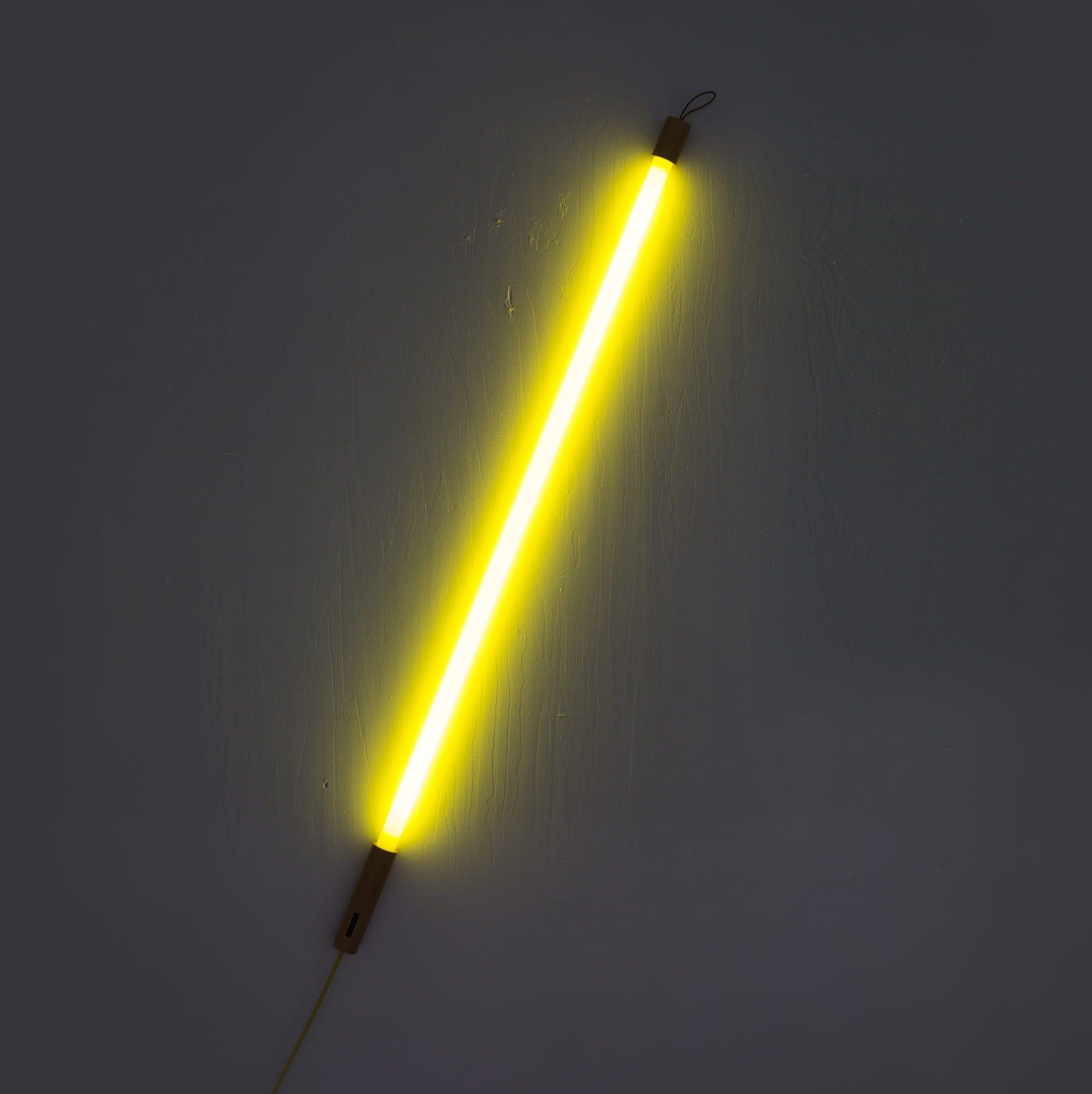 Neon De Decoration Interieur luminaire, tube neon, linea, jaune, led, 3000k, l134.5cm, cm - seletti