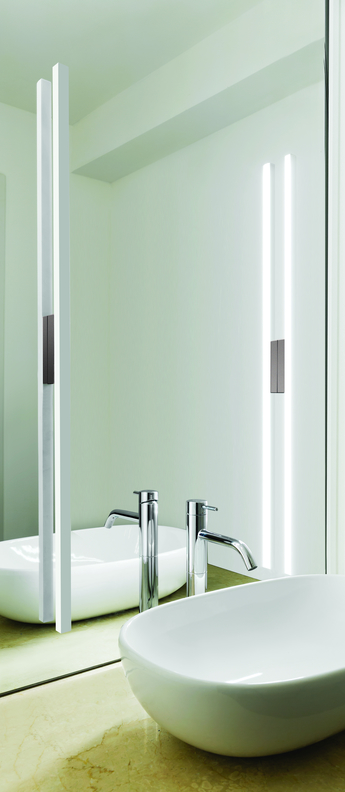 Applique murale linescapes blanc led 3000k 2400lm l4cm h102cm nemo lighting normal