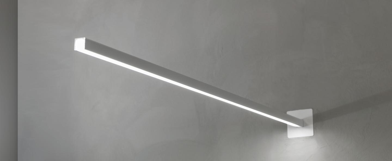 Applique murale linescapes blanc led l105cm h2cm nemo lighting normal