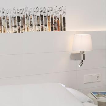 Applique murale liseuse double interrupteur room blanc h29cm faro normal