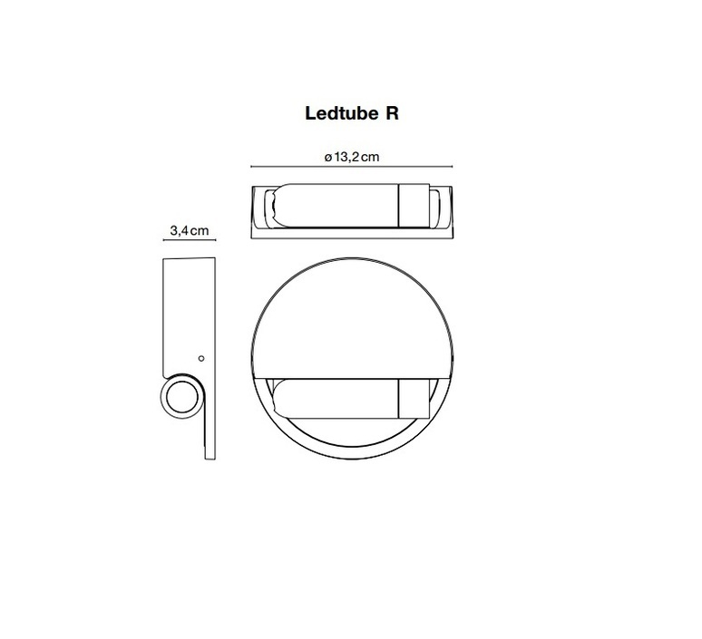 Ledtube r droite daniel lopez marset a622 031 luminaire lighting design signed 59447 product