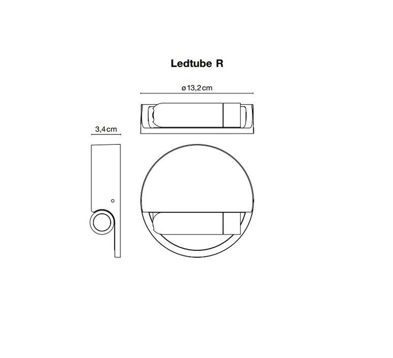 Ledtube r gauche daniel lopez marset a622 033 luminaire lighting design signed 59482 product