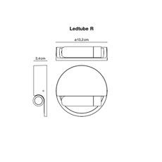 Ledtube r gauche daniel lopez marset a622 033 luminaire lighting design signed 59482 thumb
