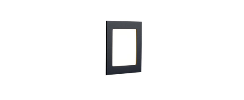 Applique murale lito 1 0 noir led l8cm h8cm wever ducre normal