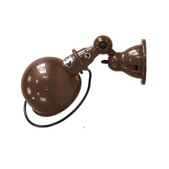 Applique murale loft d1000 mat chocolat sans interrupteur o15cm p40cm jielde normal