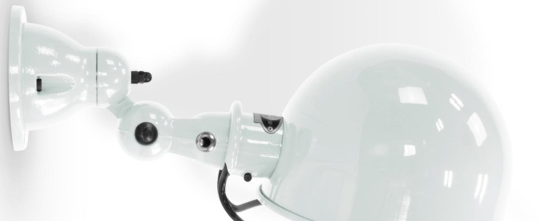 Applique murale loft d1020x blanc brillant l44 5cm h15cm jielde normal