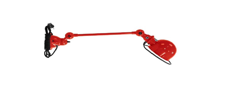 Applique murale loft d4001cr interrupteur cable rouge brillant o15cm l40cm jielde normal