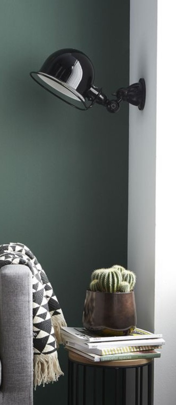 Applique murale loft sans bras noir l44 5cm h15cm jielde normal