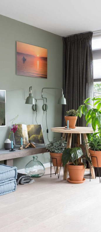 Applique murale london vert olive o16cm h40cm it s about romi normal