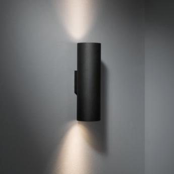 Applique murale lotis tubed wall 2x blanc noir h27 5cm modular normal
