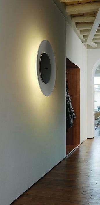 Applique murale lunaire blanc noir o75cm fontana arte normal