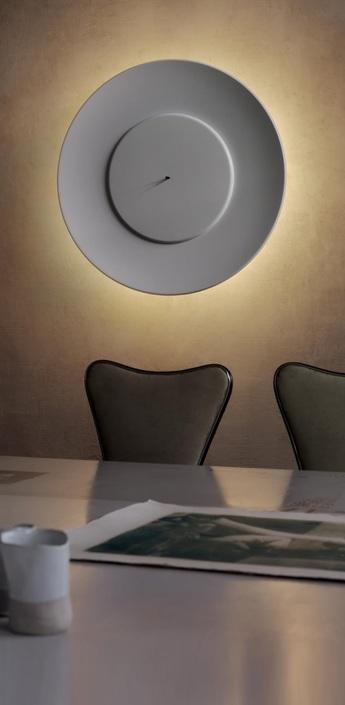 Applique murale lunaire blanc o75cm fontana arte normal