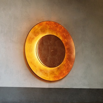Applique murale lunaire cuivre o75cm fontana arte normal