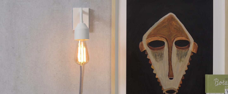 Applique murale madrid w blanc o7cm h14cm it s about romi normal