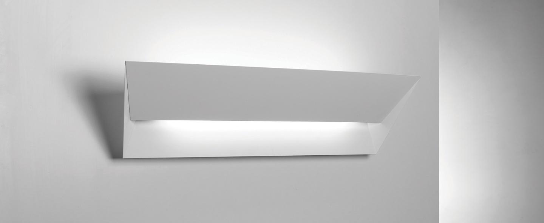 Applique murale mail blanc l56cm lumen center italia normal