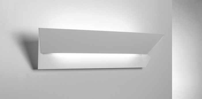 Applique murale mail blanc l56cm lumen center italia normal