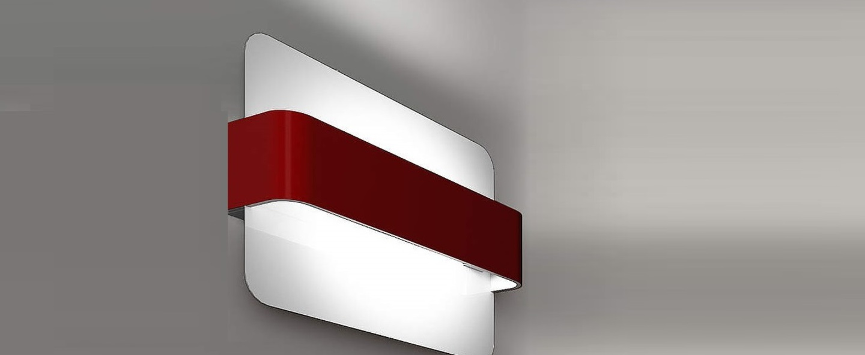 Applique murale manta rouge h28cm led zava normal