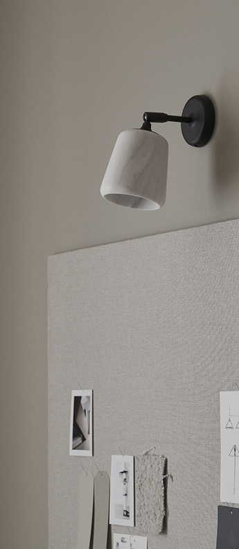 Applique murale material marbre blanc l13cm h23cm new works normal