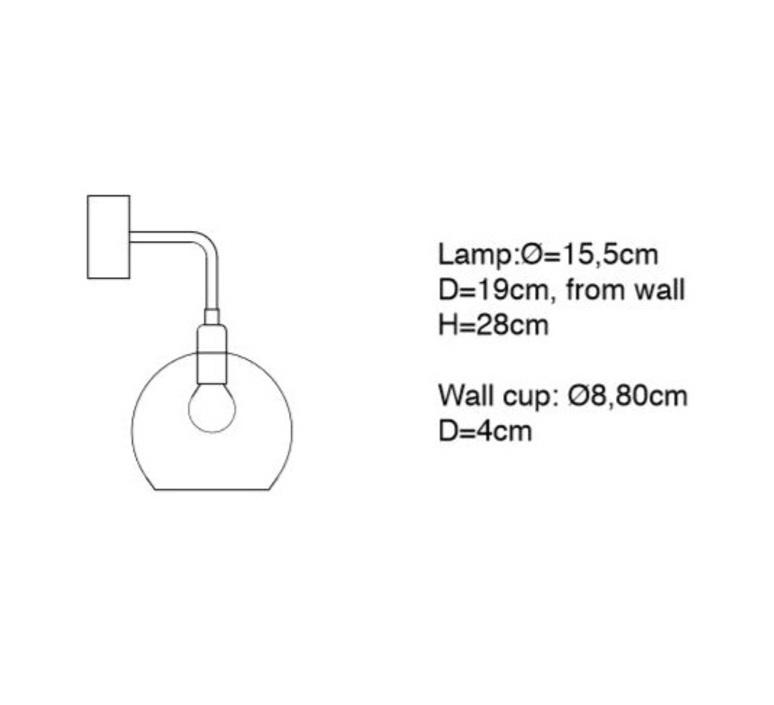 Medium check crystal rowan susanne nielsen applique murale wall light  ebb and flow la101526w  design signed nedgis 73030 product