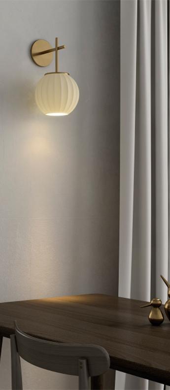 Applique murale mei structure doree et abat jour blanc l18cm h33cm carpyen normal