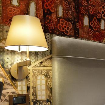 Applique murale melampo bronze ecru l23cm h35cm artemide normal
