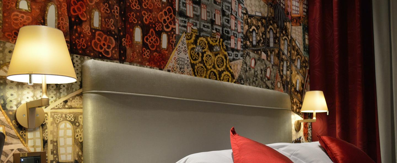 Applique murale melampo bronze l23cm h35cm artemide normal