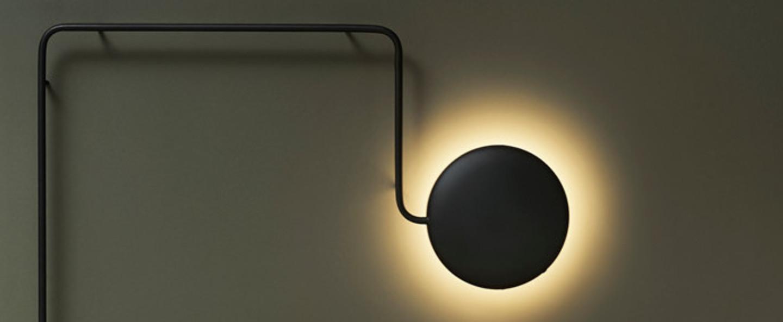 Applique murale mercury wall lamp noir led l109 7cm h152 1cm woud normal