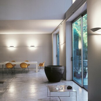 Applique murale mesmeri blanc led 2700k 2450lm dimmable l34cm h7 9cm artemide normal