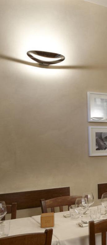Applique murale mesmeri chrome brillant led 2700k 2450lm dimmable l34cm h7 9cm artemide normal