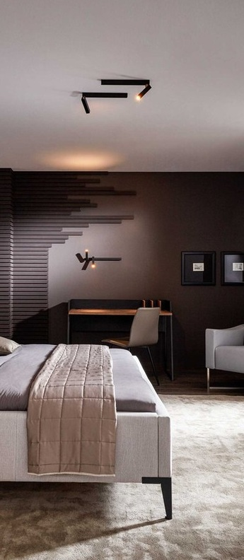 Applique murale mick wall 1 0 noir et or led 2700k 230lm l33cm h15 6cm wever ducre normal