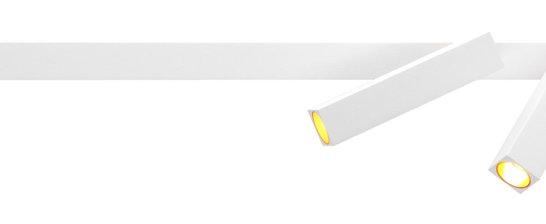 Applique murale mick wall 2 0 blanc or led 2700k 2x230lm l45cm h15 6cm wever ducre normal