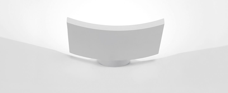 Applique murale microsurf blanc led 1942lm 3000k l22 5cm h4cm artemide normal
