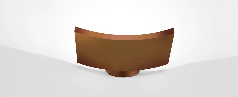 Applique murale microsurf bronze led 1942lm 3000k l22 5cm h4cm artemide normal